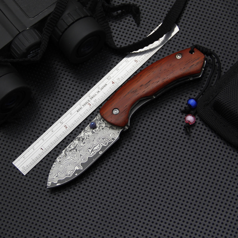 EDC Damascus Pocket Knife,Damascus Collection Tactical Knife,Outdoor Folding Knives,Survival Camping Knives Tools,Hunting Tools chachaka cool chain tactical outdoor folding knife survival high hardness pocket knives hunting camping faca kitchen supplies