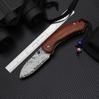 EDC Damascus Pocket Knife,Damascus Collection Tactical Knife,Outdoor Folding Knives,Survival Camping Knives Tools,Hunting Tools