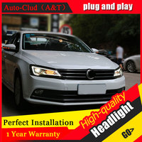 Auto Clud Car Styling For VW Jetta headlights 2012 2017 For Jetta head lamp led DRL front Bi Xenon Lens Double Beam HID KIT