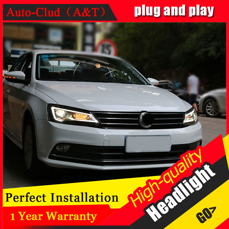 Auto Clud Car Styling For VW Jetta headlights 2012-2017 For Jetta head lamp led DRL front Bi-Xenon Lens Double Beam HID KIT auto lighting style led head lamp for mazda 3 axe headlights for axela led angle eyes drl h7 hid bi xenon lens low beam