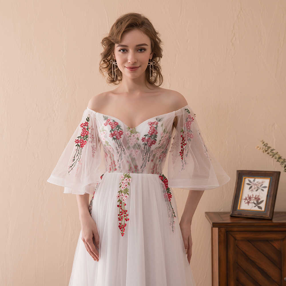 368b3a6ef1b5 Detail Feedback Questions about 2018 Boho Evening Dresses Off The ...