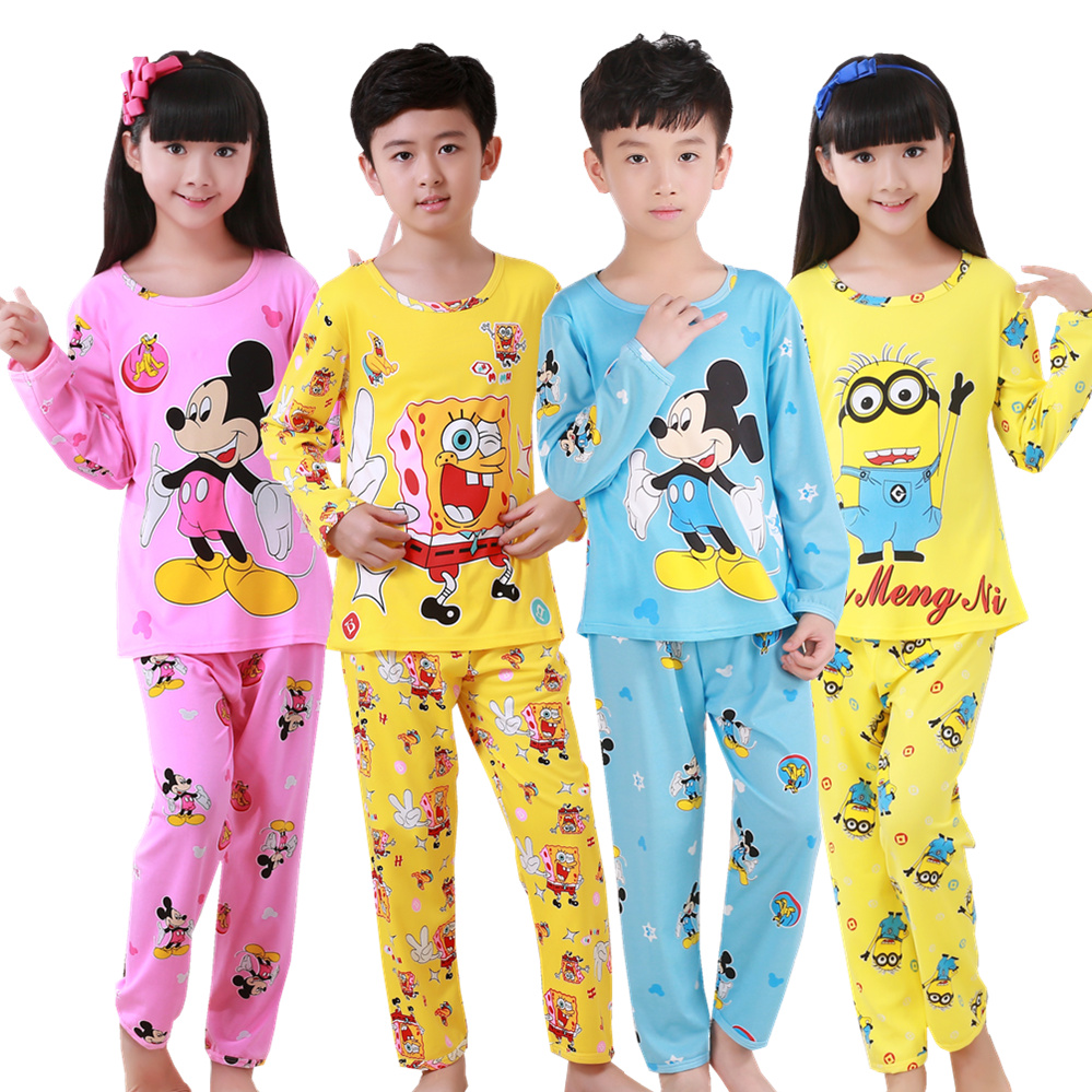Autumn Winter Children Pajamas Sets Long Sleeve Cartoon Kids Fashion Girl Clothes Suit Children's Pyjamas Boy Home Clothes Wear(China)