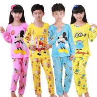 Herbst Winter Kinder Pyjamas Sets Langarm Cartoon Kinder Mode Mädchen Kleidung Anzug kinder Pyjamas Boy Haus Kleidung Tragen