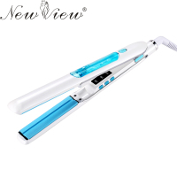 NewView Ceramic Steam Hair Straightening Flat Iron Hair Straightener Professional Styling Tools Salon