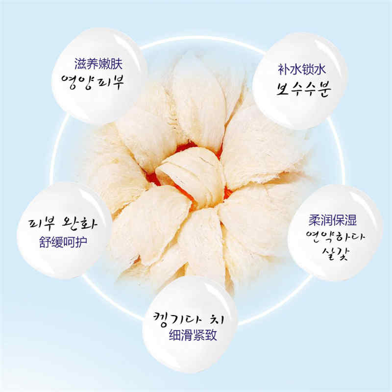 ROREC Bird's Nest Moisturizing Face Mask Oil Control Whitening Facial Mask Brighten Shrink Pores Sheet Wrapped Masks Skin Care
