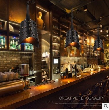 Chime Pendant Light Industrial Lamp huarache Vintage Hanging Lamp Edison Bulb Holder Bells Retro coffee bar theme Loft Lighting loft industrial rust ceramics hanging lamp vintage pendant lamp cafe bar edison retro iron lighting