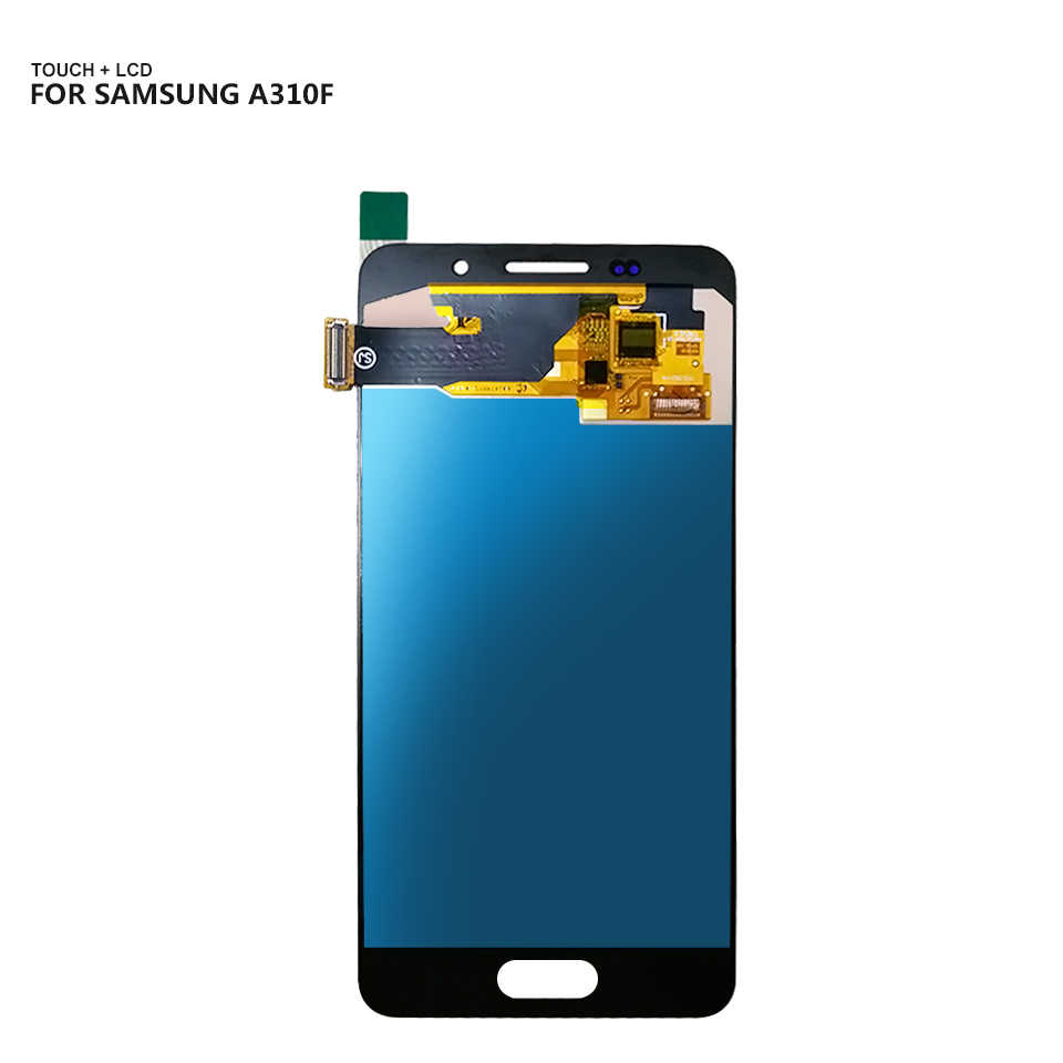 for Galaxy A3 A310F A310M//DS 2019 A310F//DS Color : White A310M TFT Material A310Y Touch Panel Replacement LCD Screen and Digitizer Full Assembly