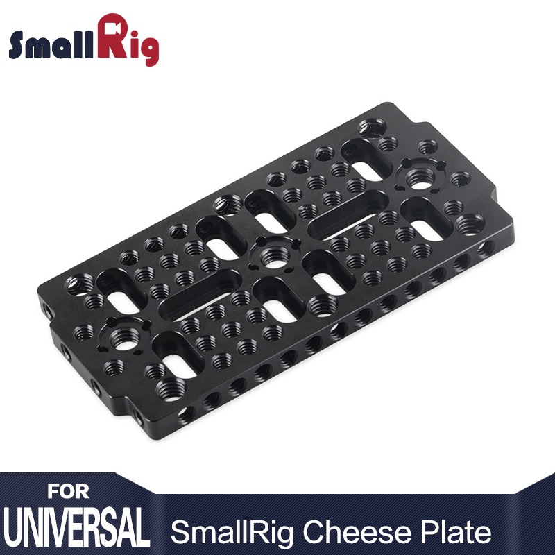 SmallRig Aluminum Alloy Multi-purpose Camera Cheese Plate ( 1pc ) With 1/4 3/8 Thread Holes -1681 (Update)SmallRig Aluminum Alloy Multi-purpose Camera Cheese Plate ( 1pc ) With 1/4 3/8 Thread Holes -1681 (Update)