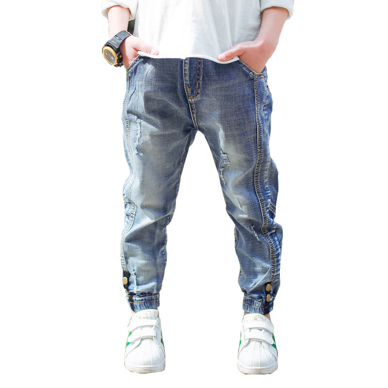 Boys Jeans Clothing Pants Trousers Teen Kids Denim Children 13-Years Fashion Autumn  title=