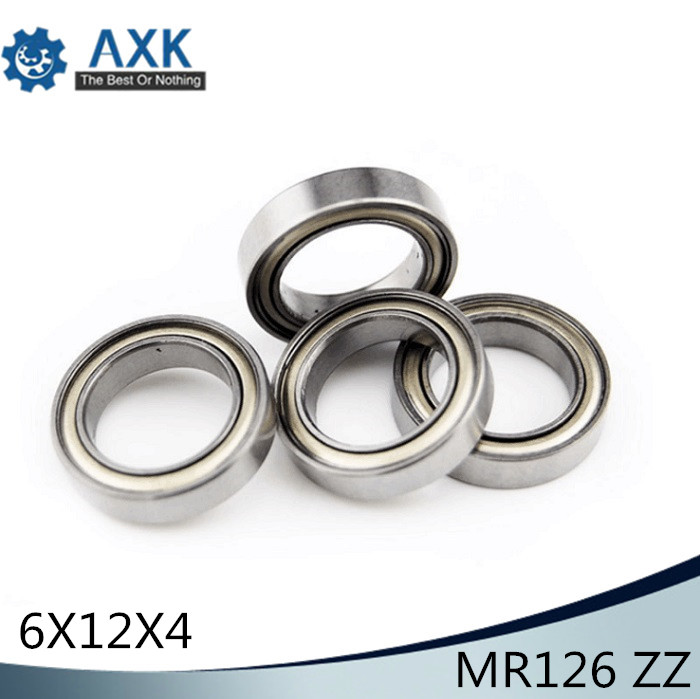<font><b>MR126ZZ</b></font> Bearing ABEC-1 (10PCS) 6*12*4 mm Miniature MR126 ZZ Ball Bearings L-1260ZZ MR126z image
