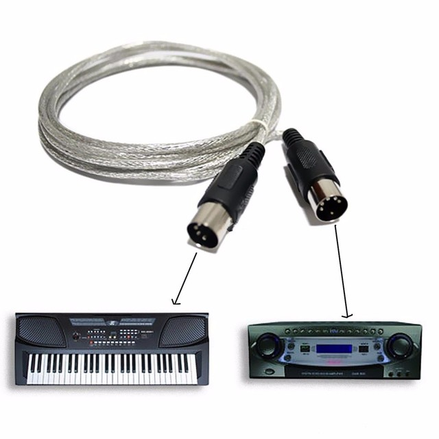 US $23 66 5% OFF|Original Fengru 10pcs MIDI Cable 5 Pin cable connector  leads standard 3M using MIDI devices for electronic piano synthesizers on