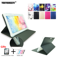 Painted Front support stand cover For Teclast 98 octa core 10.1inch tablet Anti-drop TPU case for M20+Protective film+stylus