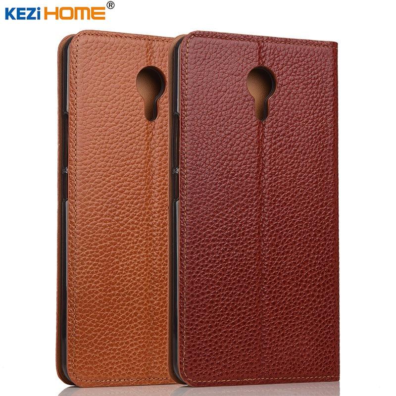 imágenes para Meizu M3 caso Max KEZiHOME Litchi Cuero Del Soporte Del Tirón del Cuero Genuino Cubierta de la capa Para Meizu M3 Max cajas Del Teléfono coque