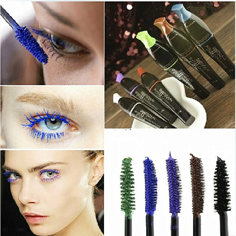 3D Fiber Long Black Brown Colour Lash Eyelash Natural Mascara Waterproof Lengthening Mascara For Eyes Professional Makeup Tool