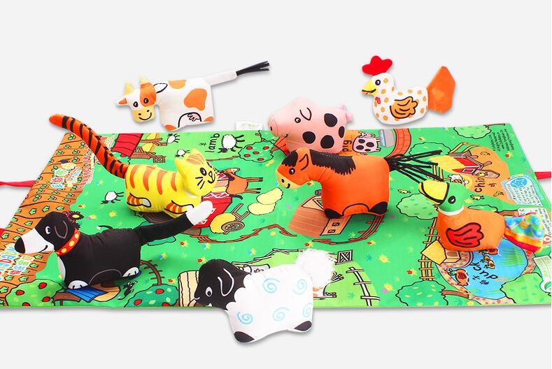Image 4 - Детские мягкие активности, разворачивающаяся ткань с хвостом животного для Книги для малышей; Игрушки для раннего развития детей для возраста от 0 до 12 месяцев подарок 40% off
