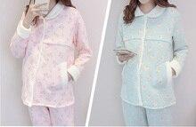 Flowers spring autumn Winter Lovely Maternity Clothing font b Pyjamas b font font b Pregnancy b