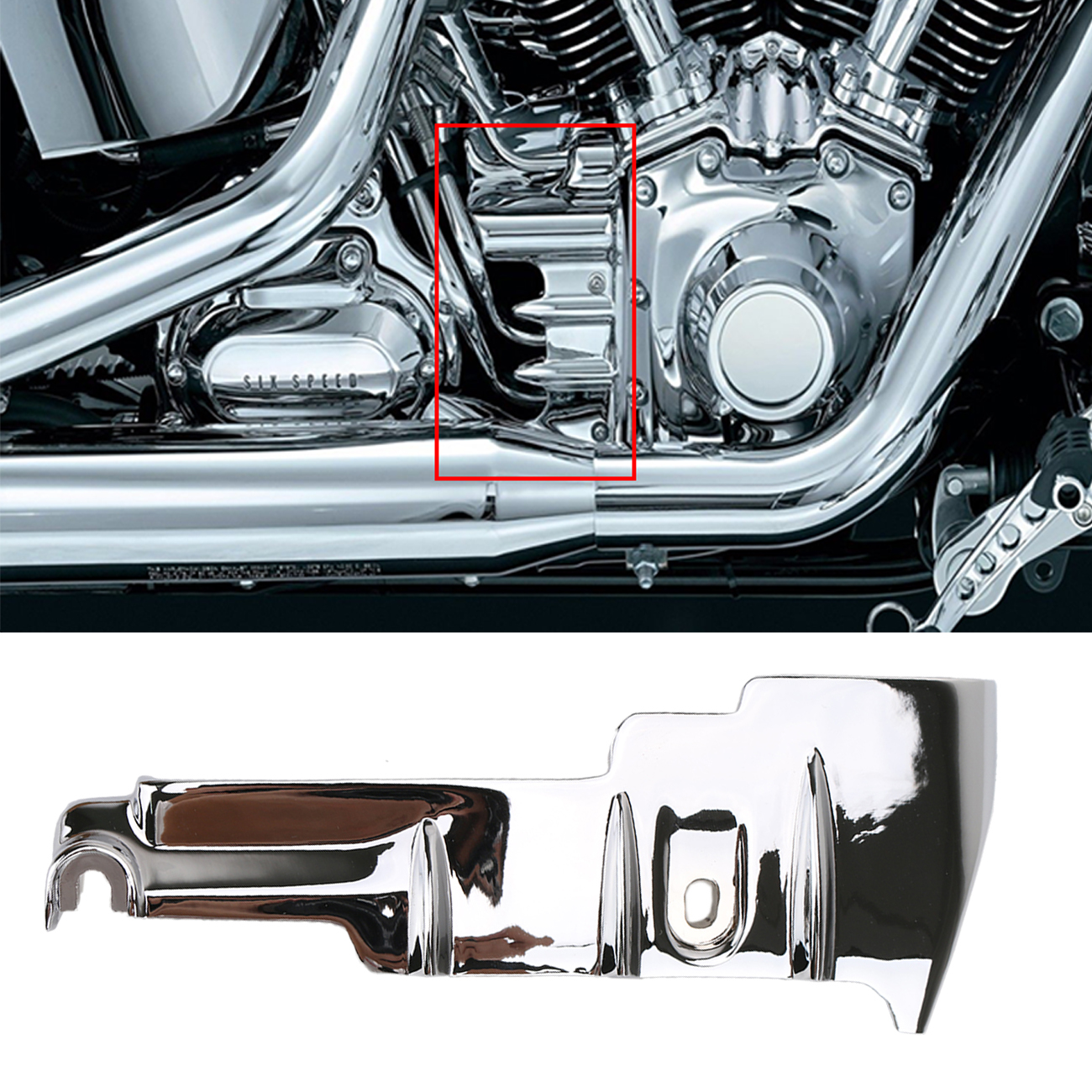 1Set Motorcycle Chrome Cylinder Base Side Cover For Harley Davidson Road King Street Glide Tri Glide 2010-2016 engine cover set with chrome plated pull starter cylinder cover side cover screws free shipping 85108