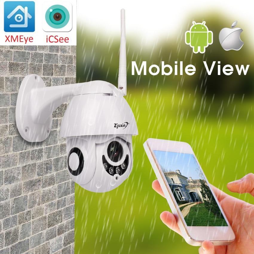 b7dd377548cd2 Beste Koop 1080 p 2MP PTZ IP Camera Home Security Draadloze Wifi Onvif  Audio Camera HD CCTV Vision Outdoor ipCam Video Surveillance ipcam Goedkoop