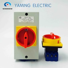 YMD11 32A 440ボルトでボックス負荷開閉ロータリーカム切り替えスイッチマニュアル隔離スイッチエアconditoningシステムとポンプシステム