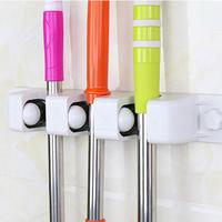 Garden Kitchen Multi Purpose MOP Broom Holder Wall Mounted Support Organizer Storage Hanger Rack Tool