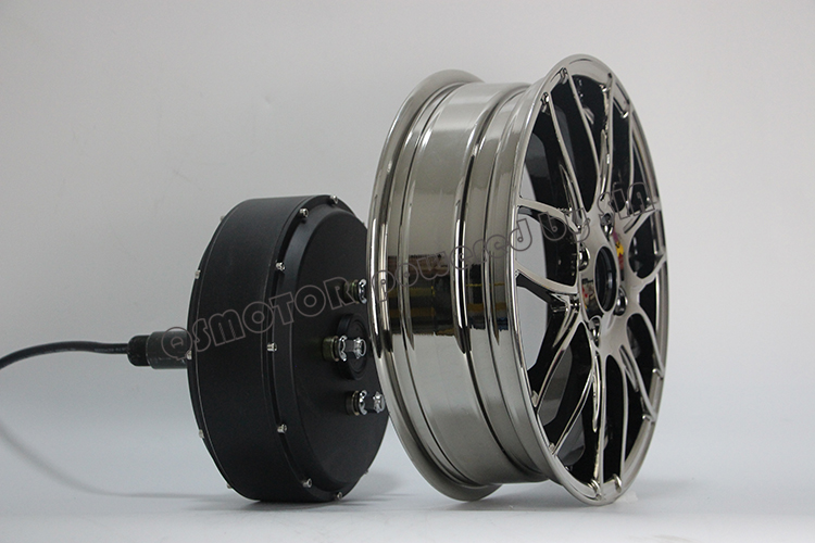 Super wide tyre New QS Motor 12inch 1500W-5000W 260 Brushless DC Electric Single Shaft Detachable Bike Scooter Wheel Hub Motor