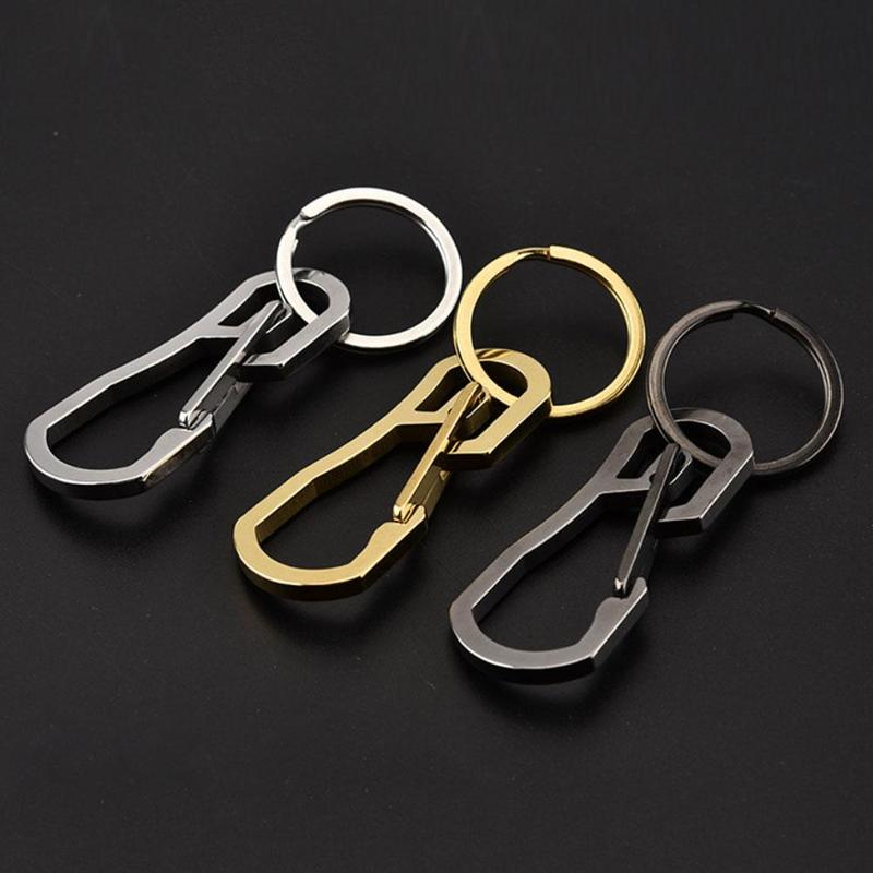 Stainless Steel Carabiner Camping Clip Outdoor Key Ring Clip Keychain Holder Keyring Buckle Hook High Quality
