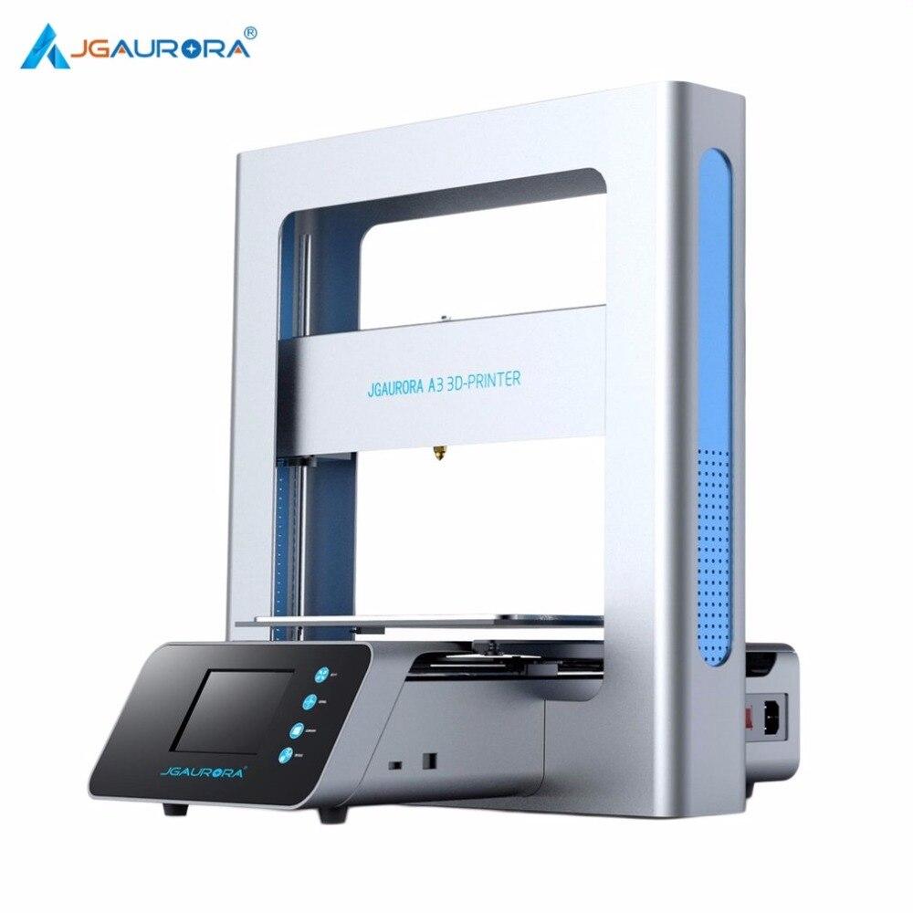 Jgaurora Портативный 3D-принтеры металлический Рамки Высокая точность широкоформатной печати Размеры USB печатная машина ЖК-дисплей Сенсорный э...