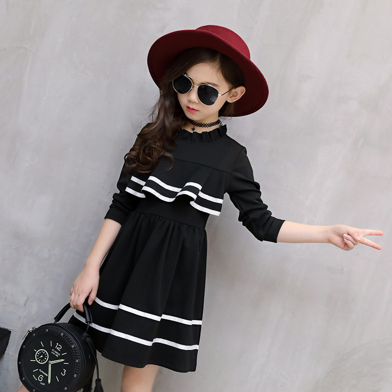 New 2018 Girls Clothes Cotton Princess Autumn Winter Dress Long Sleeve Stitching Dress Kids Fashion Clothes Baby Girl Kids Dress spring autumn cute baby kids girls party dress kids clothes cotton toddler girl clothing long sleeve baby girl princess dress