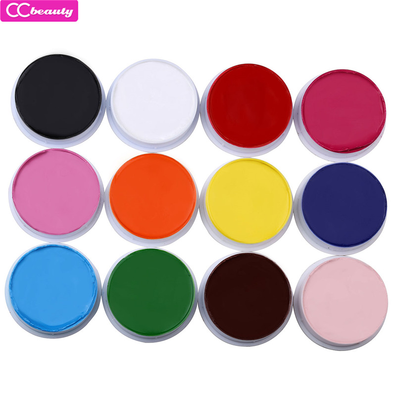 CCbeauty 2018 High Quality 12 Colors Fancy Face Body Party Cosplay Painting Oil Art Stage Make Up Beauty Makeup Pigment