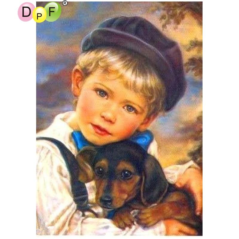 DPF Il ragazzo e il cane 5D diamante ricamo pittura croce di diamanti stitch artigianato ricamo diamante mosaico piazza home decorDPF Il ragazzo e il cane 5D diamante ricamo pittura croce di diamanti stitch artigianato ricamo diamante mosaico piazza home decor
