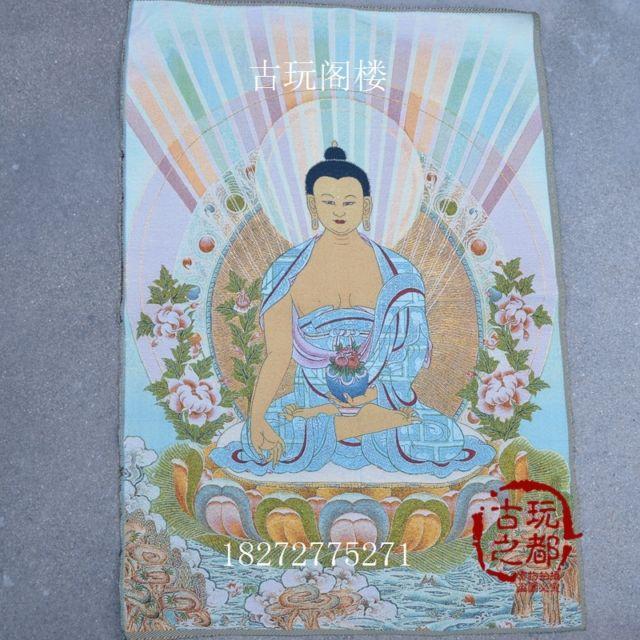 Colección China thangka bordado Buda diagrama - a989