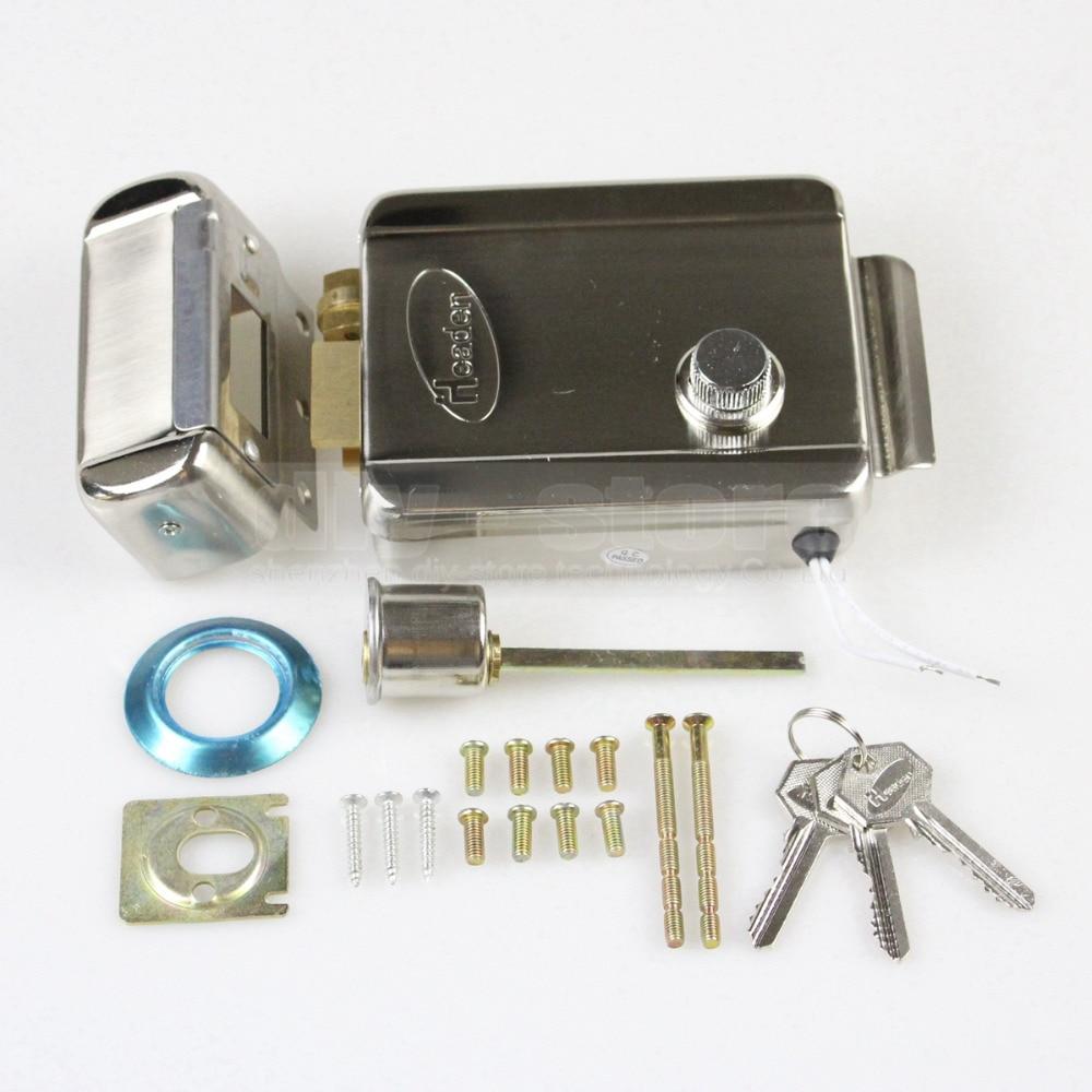 DIYSECUR Electric Lock RFID Reader Touch Panel Password Keypad Door Access Control Security System Kit