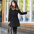 2016 New Hot Sale Winter Coat Long Women Wadded Jacket Autumn Fashion Fur Collar Down Parka Coat Female Outwear Ladies  B733