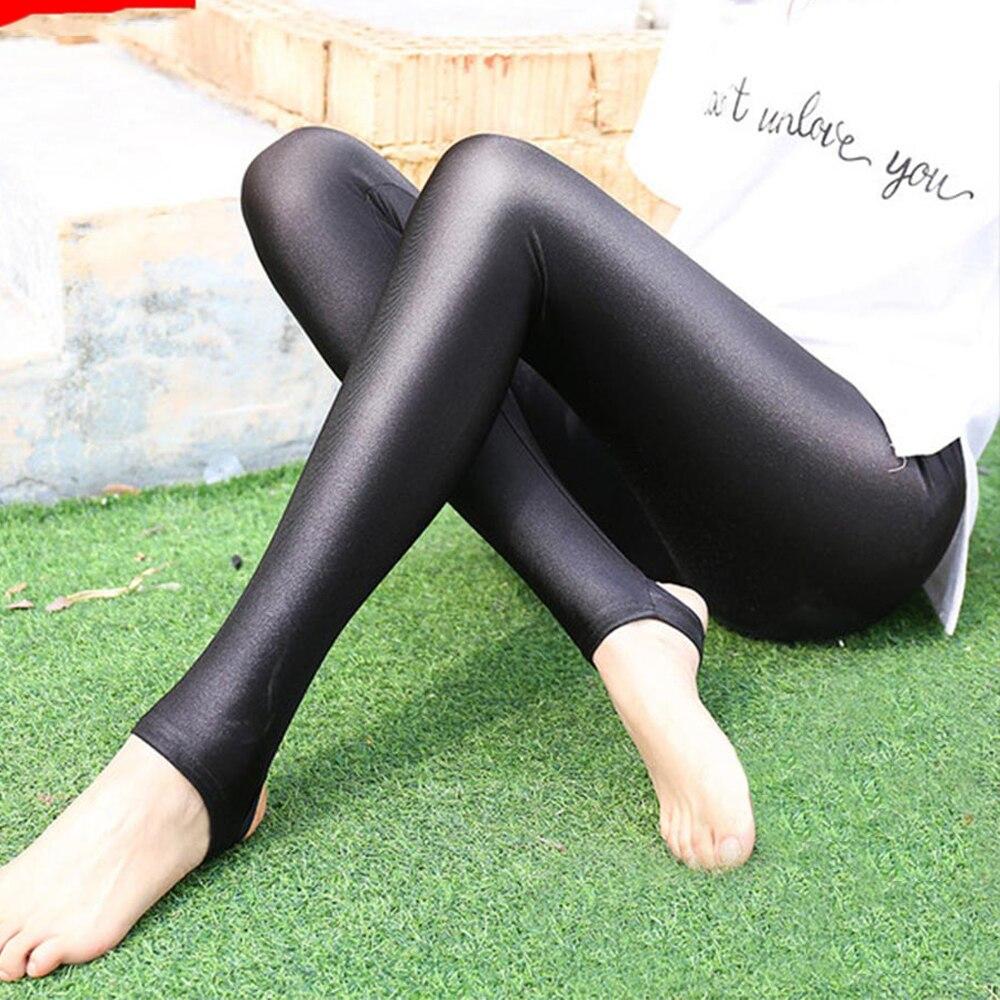 Yming Womens Shiny Black Plus Size   Leggings   Gloss Pants Shaping Workout   Leggings   Chinlon Elastic Sexy   Legging   Pantyhoses Women