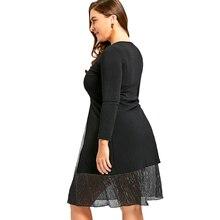 Long Sleeve Evening Party Dress Large Size Zip Front Lurex Stripe Dress Spring Plus Size 5XL 4XL Vestidos De Festa