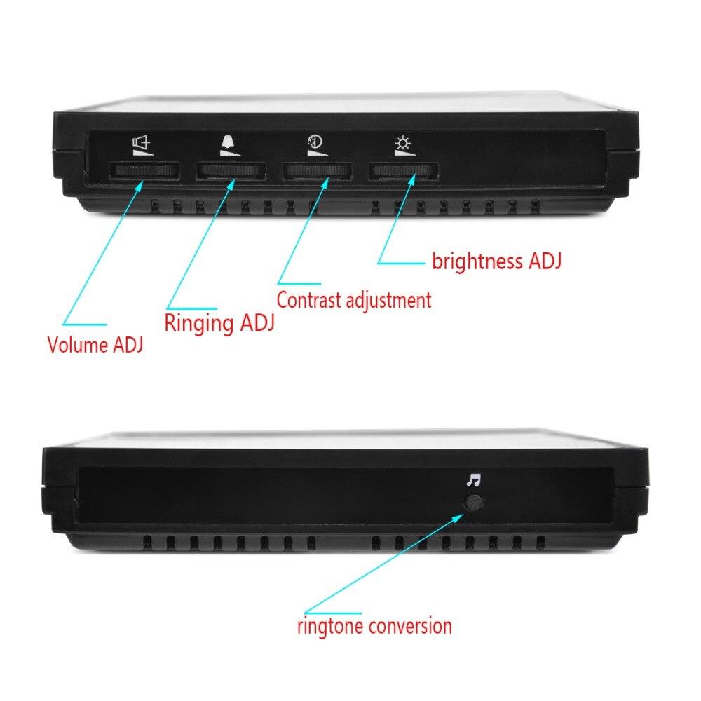 "Купить с кэшбэком SYSD Wired Touch Key 7"" Video Door Phone Intercom System 1 RFID Keypad Code Number Doorbell Camera 1 Monitor"