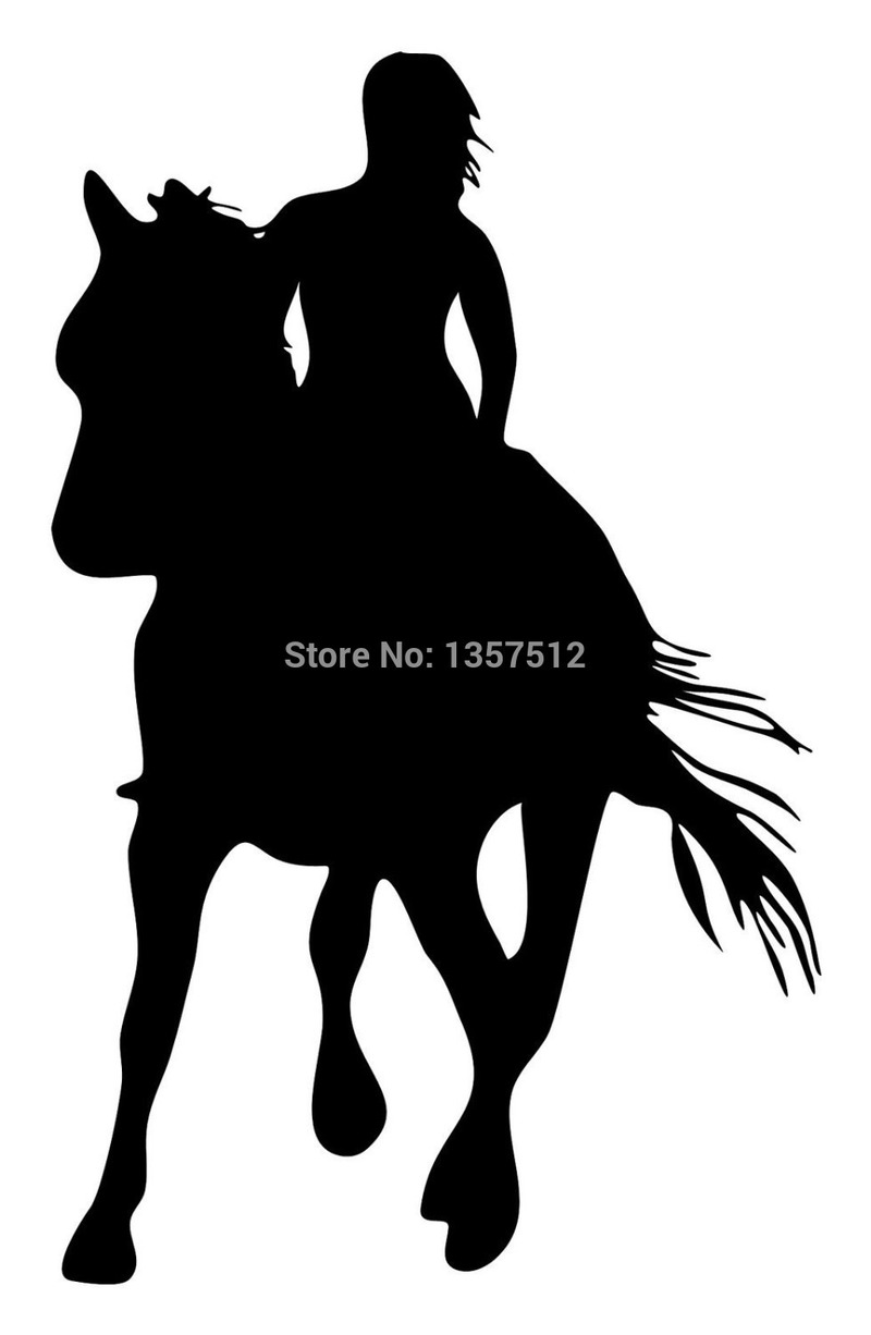 Stick Figure HORSE Vinyl Decal Sticker Car Window Wall Bumper Family Pet Animal