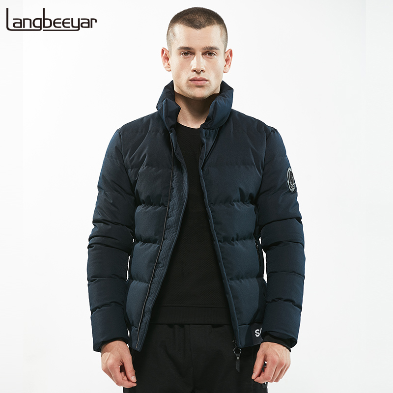 New Fashion Brand Clothing Parka Men Stand Collar Keep Warm Winter Jacket Men Youth Slim Fit Mens Winter Jackets And Coats hot sale winter jacket men fashion cotton coat warm parka homme men s causal outwear hoodies clothing mens jackets and coats