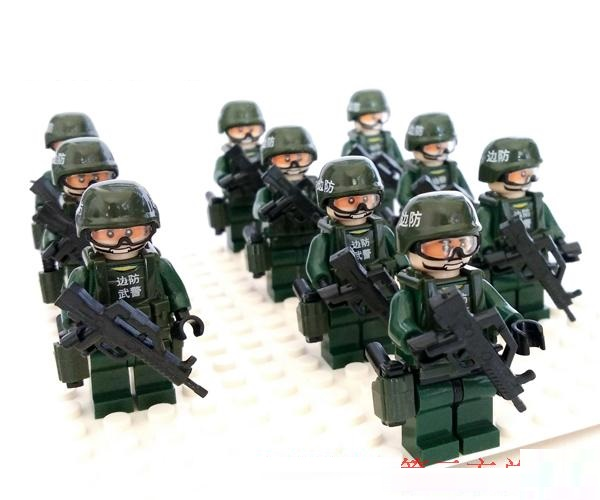 10pcs China Border Team Weapons Original Block Toys Swat