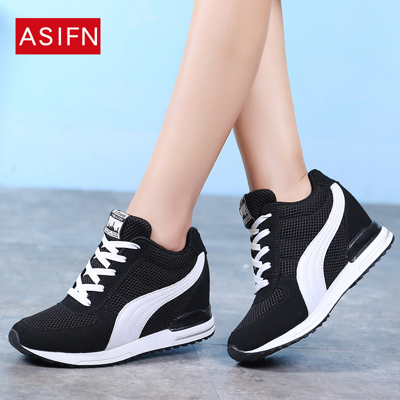 Fashion Women Platform Sneakers 8cm High Heels Casual Shoes Woman Wedge Sneakers Flats Platform Wedges Loafter Ladies CareepersFashion Women Platform Sneakers 8cm High Heels Casual Shoes Woman Wedge Sneakers Flats Platform Wedges Loafter Ladies Careepers