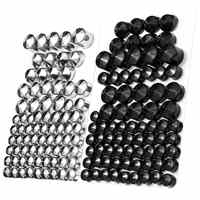 76pc Motorcycle Screw Chrome Black Bolt Toppers Cover Caps Kit For Harley-Davidson Dyna Glide TWIN CAM 1991-2013