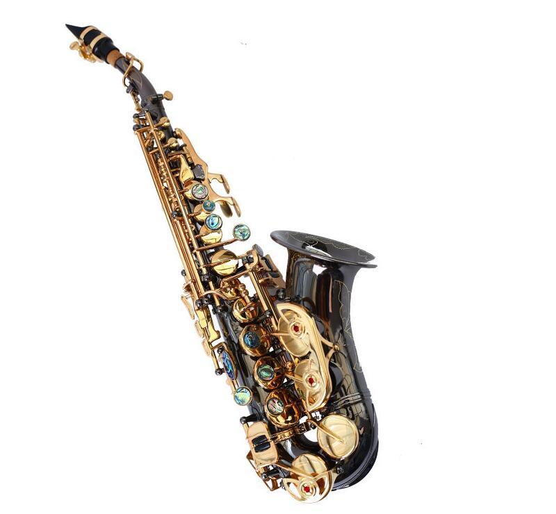 Nouveau saxophone Soprano de haute qualité Yanagisawa S991 B Instrument de musique enfants courbé noir Nickel or Soprano Saxophone