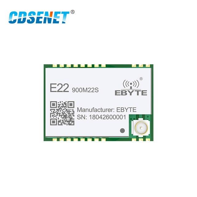 10pcs SX1262 โมดูล Lora 868MHz 915MHz SMD Transceiver E22 900M22S 22dBm TCXO เครื่องส่งสัญญาณและตัวรับสัญญาณ