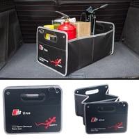 1X Auto Car Interior Accessories Stowing Tidying Trunk Box For Audi 8V C7 A1 A2 A3 A4 A5 A6 A7 A8 TT 8L V8 B5 B6 B7 B8 B9 C5 C6