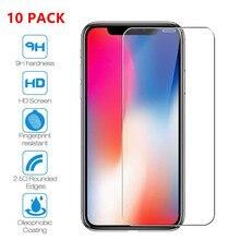 10PCS tempered glass for iphone 6 6s plus 7 plus 5s 4 SE 8 plus X glass iphone 7 X 8 screen protector iphone 7 8 X glass militech 6 x 8