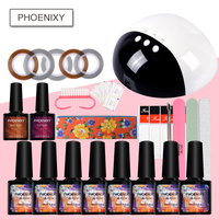 Manicure Set For Nail Kit 8Colors 10ml Nail Gel Polish With 24W LED Dryer Manicure Gel Nail Sets For Nail Art Tools Set Kit