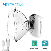Yongrow Nebulizer Inalador Nebulizador Asthma Inhaler Atomizer for Children Adult USB Rechargeable Nebulizador Portatil