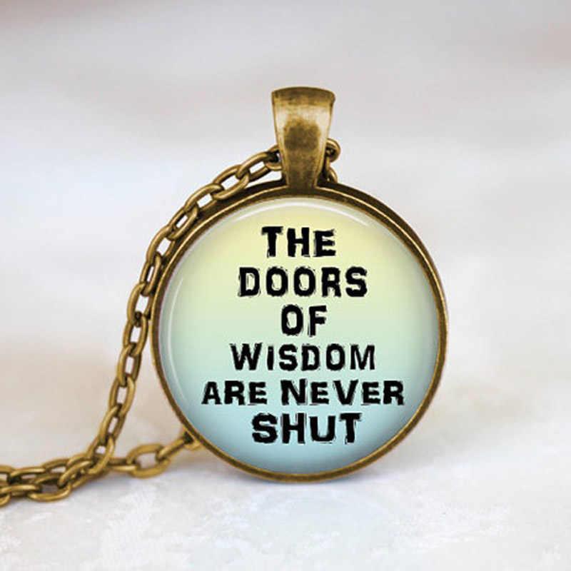 Daphne Benjamin Franklin Mądry Cytat Naszyjnik Drzwi