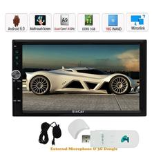 3G Dongle included 2 din android 6.0 2din Car Radio Double din Car Player GPS Navigation In dash Car PC Stereo video quad core
