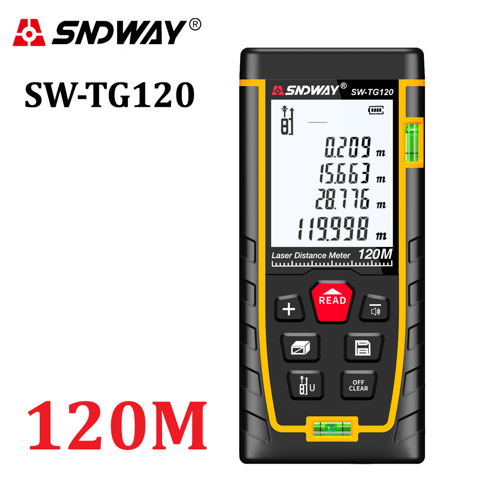 SNDWAY laser distance meter rangefinder 120m ranger finder digital trena laser tape measure mini metro laser